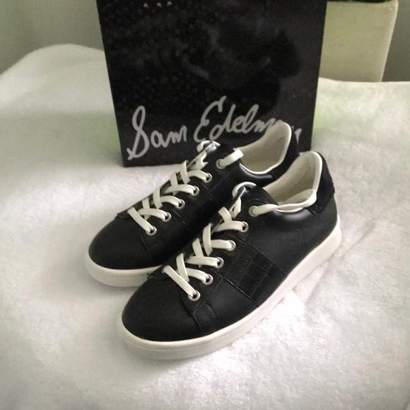 3cb1f0df3 Sam Edelman Marquette Black Leather Loafers 6 M
